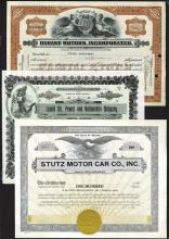 Attractive Automobile Stock and Bond Certificate Collection.
