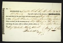 Oahu, Hawaii (Sandwich Islands), 1836 Exchange Certificate.