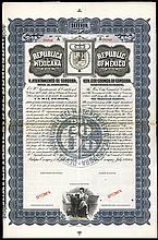 Republica Mexicana, H.Ayuntamiento De Cordoba, Bearer Bond Specimen.