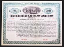 Port Hood Richmond Railway Coal Co., Ltd. Bond.