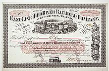 East Line & Red River Railroad Co. 1879.