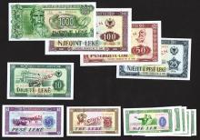 Banka e Shtetit Shqiptar, 1976 Issue plus others.
