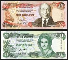 Central Bank of the Bahamas. 1992-95 ND Issue.