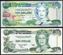 Central Bank of the Bahamas. 1996 Issue.