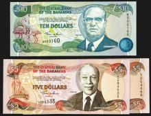 Central Bank of the Bahamas. 1997-2001 Issue.