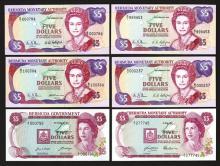 Bermuda Government $5 Type set.