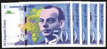 Banque de France. 1994-1999 Issues.