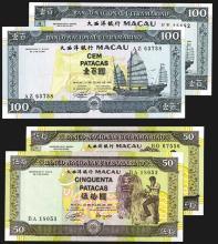 Banco Nacional Ultramarino - Macau. 1992, 1999 Issues.