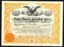 Eagle Aero & Auto Co., Inc., 1916 Stock Certificate.