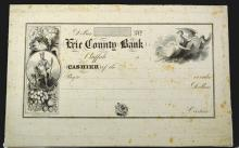 Erie County Bank, Proof Check ca. 1820-30's.