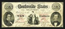 Confederate States. 10 Dollars. 1861.