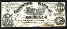 Confederate States. 100 Dollars. 1861.