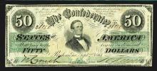 Confederate States. 50 Dollars. 1861.