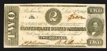 Confederate States. 10 Dollars. 1862.