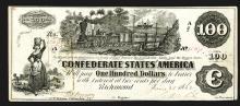 Confederate States. 100 Dollars. 1862.