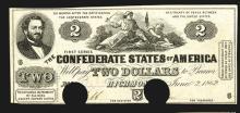 Confederate States. 2 Dollars. 1862.