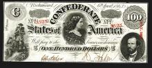 Confederate States. 100 Dollars. 1863.