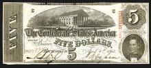 Confederate States. 5 Dollars. 1863.
