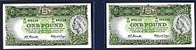 Commonwealth of Australia, ND (1953-60) Issue Sequential Banknote Pair.
