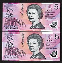 Reserve Bank of Australia, 1992 Polymer Issue.