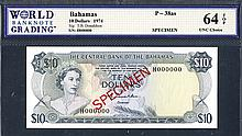 Central Bank of the Bahamas, 1974 Issue