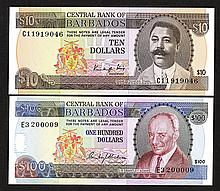 Central Bank of Barbados. 1986 ND Issue.