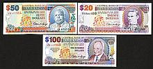 Central Bank of Barbados. 1996 ND Issue, and 1997 Commemorative.