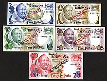 Bank of Botswana. 1979 ND Issue.