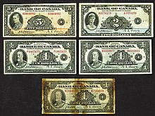 Bank of Canada. 1935 Issues.