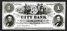 City Bank, 185x, Proof Obsolete Banknote.