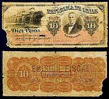 Republica De Chile, 1898 Provisional Issue Rarity Discovery Note.