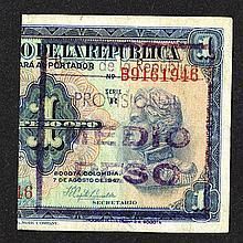 Banco de la Republica. 1946 ND Provisional Issue.