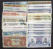 Banco de la Republica. Many types, ca.1953 to 1990.