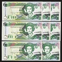 East Caribbean Central Bank. 1993 ND Issue.