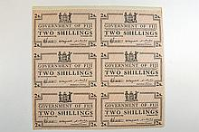 Government of Fiji. 1942 Issue Uncut Sheet.