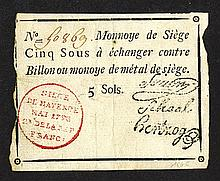 Siege of Mainz, 1793 Banknote.