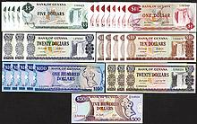 Bank of Guyana. 1966-92 ND Issues.