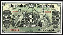 Bank of Nova Scotia, 1919 Issue Specimen.