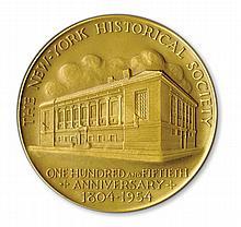 New York Historical Society 150th Anniversary medal. 1954.
