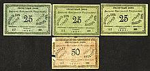 East Siberia Banknote Issue Assortment.