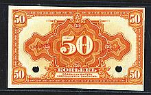 Provisional Siberian Administration, ND (1919) Specimen Banknote.