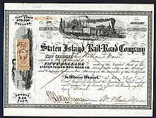 Staten Island Rail-Road Co., Signed by William H. Vanderbilt as President.