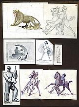 Hugo Fleury Original Artwork Produced for Waterlow & Son.