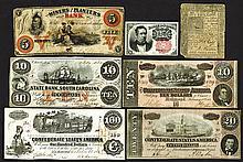 Confederate States $10, $20, $100 notes plus.
