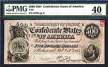 Confederate States of America, 1864 Banknote.
