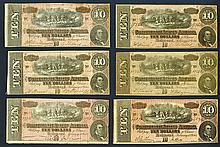 Confederate States, 10 Dollars. 2.17.1864.