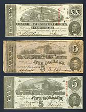 Confederate States, 5, 20 Dollars.