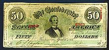 Confederate States, 50 Dollars. 4.6.1863.