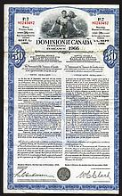 Dominion of Canada, 1945 $50, Ninth Victory Loan Issued & Uncancelled Bond.