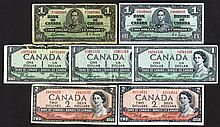 Bank of Canada, 1937, 1954 Issues.